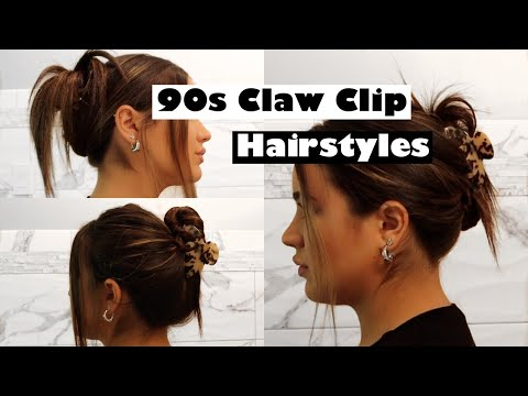 FIVE DIFFERENT 90s CLAW CLIP HAIRSTYLES // EASY TUTORIAL♡