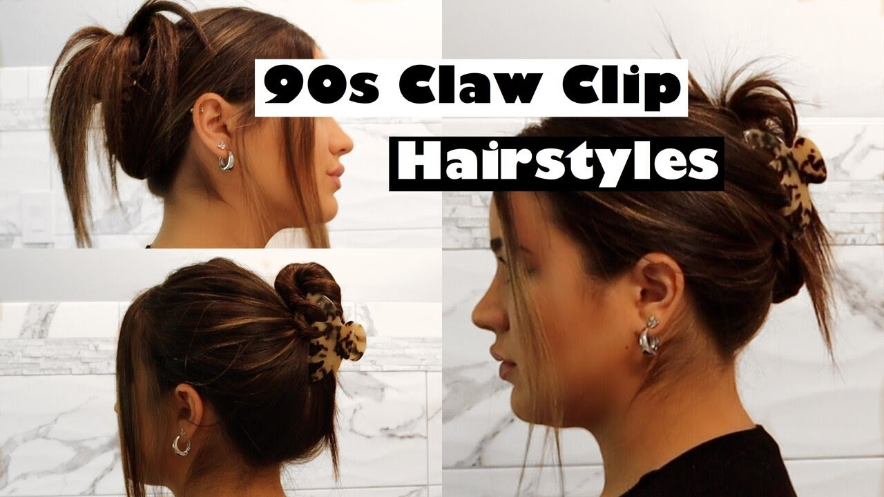 FIVE DIFFERENT 9s CLAW CLIP HAIRSTYLES // EASY TUTORIAL♡