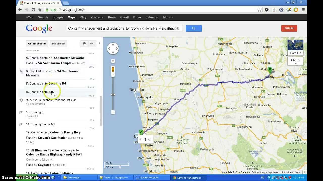 how to find north direction in google maps