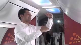 midair Holi dance by SpiceJet cabin crew