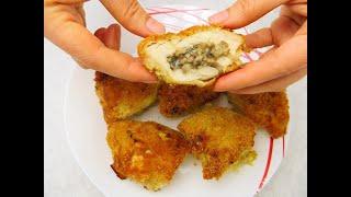 Куриные подушечки с грибами и сыром Рецепты куриной грудки в духовке