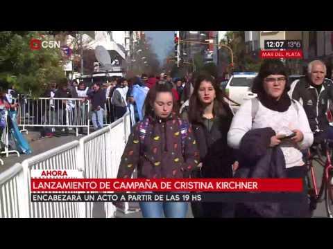 Lanzamiento de campaña de Cristina Kirchener en Mar del Plata