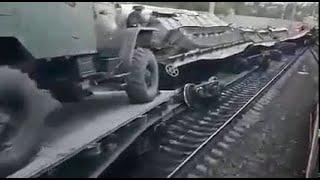 Россия готовится к войне с Украиной 2021 Партизаны пустили эшелон военной техники под откос Донбасс