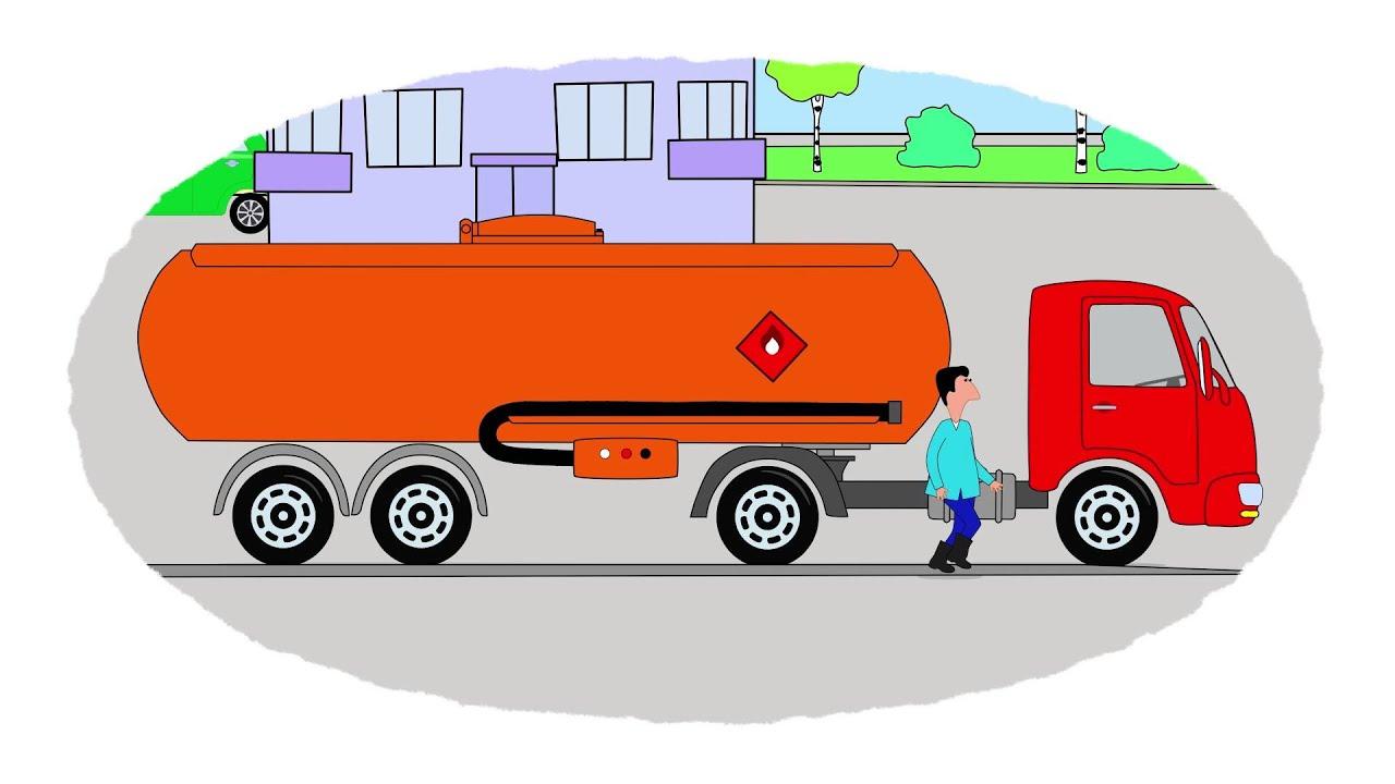 Cartoni Animati Coloriamo Insieme L Carburante Per Le Macchine