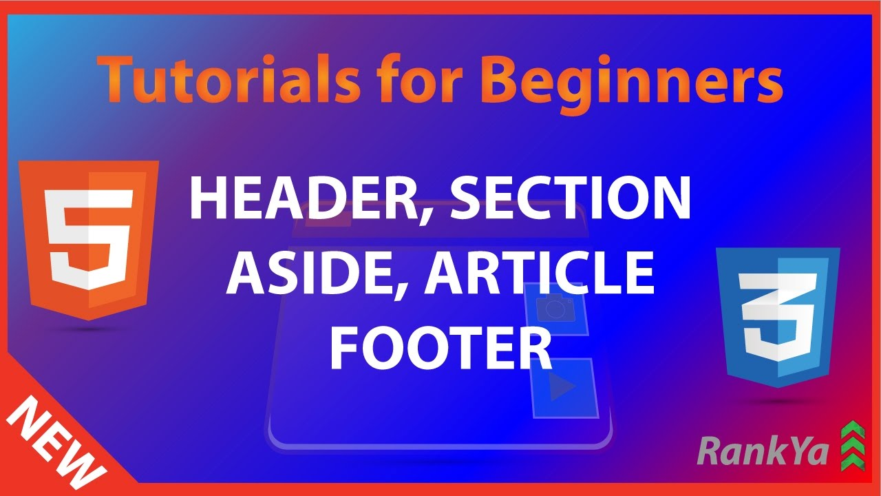 HTML5 header, section, article, aside, footer - YouTube