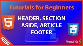 HTML5 header, section, article, aside, footer