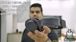 unboxing sony mdr 100abn wireless noise cancellation headphones
