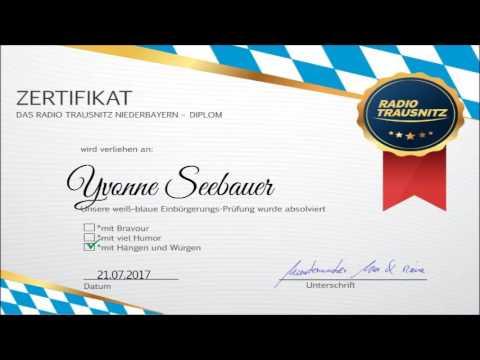 RADIO TRAUSNITZ Niederbayern Diplom - YouTube