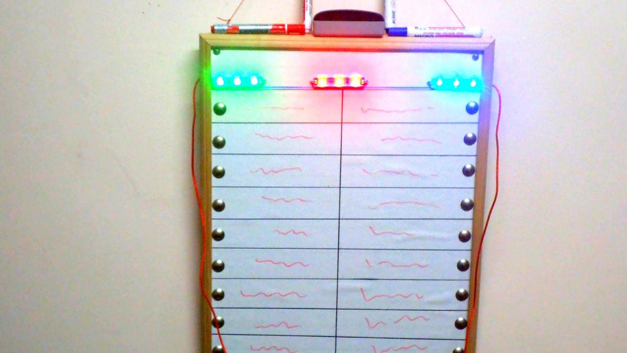 Electric Circuit Quiz Board