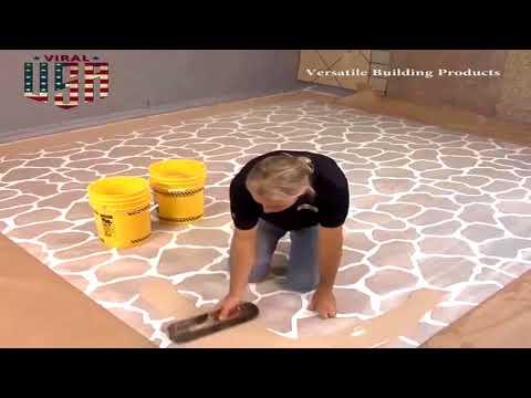 Versa Crete Stenciled Decorative Concrete Floor Coating Installation