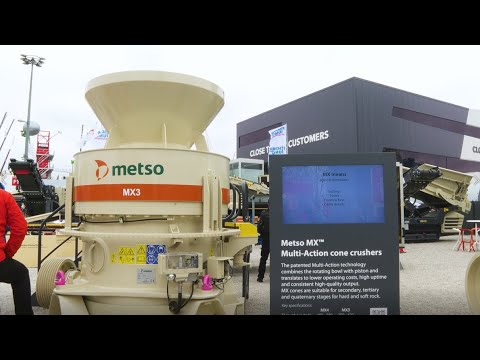 Metso showcases MX3 Multi-Action cone crusher