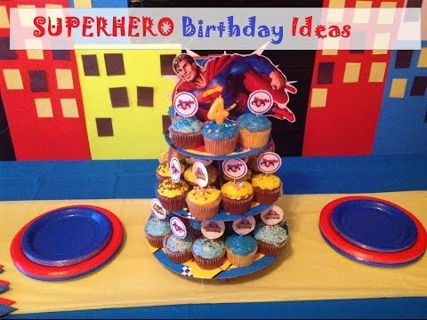 DIY Superhero Birthday Party Ideas  sc 1 st  YouTube & DIY Superhero Birthday Party Ideas - YouTube