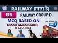 MCQ Based on Brand Ambassador & CEO 2018 | Part 2 | Railway 2018 | GS | Live at 7 PM