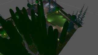 видео Оформление двора частного дома: особенности планирования освещения