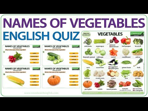 Names Of Vegetables In English Vocabulary Quiz Youtube