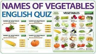 Names of Vegetables in English - Vocabulary Quiz