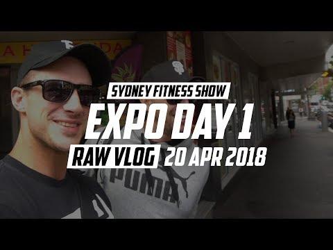 Sydney Fitness Show FILEX 2018 | Expo Day 1 | RAW VLOG 20 Apr 2018