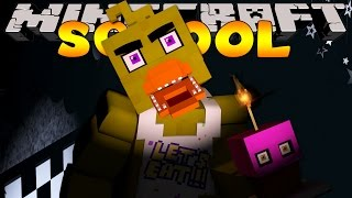 Minecraft School : FIVE NIGHTS AT FREDDY'S - NIGHT  #4  (Custom Roleplay)