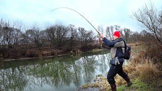 Клюнул какой то ВЕЛИКАН Большие рыбы Новой реки Рыбалка с сыном на спиннинг