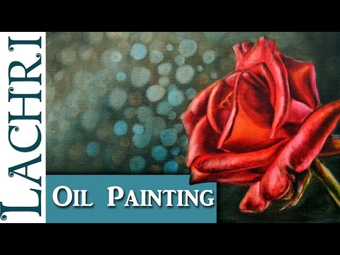 Painting a rose in oil paint - art tips w/ Lachri