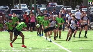 Highlights Okapi Wanderers Rugby FC U19  vs Wellington Wizards Rugby 02 24 2018