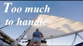 Repeat youtube video 41. Sailing S/V Lazy Gecko - Too much to handle!