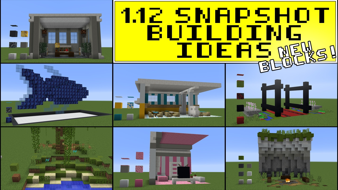 1.12 Minecraft Building Ideas (NEW BLOCKS!) | 17w06 Snapshot - YouTube