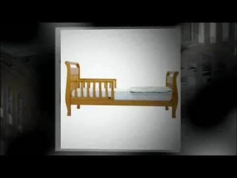 DaVinci Sleigh Toddler Bed Espresso Honey Oak Natural