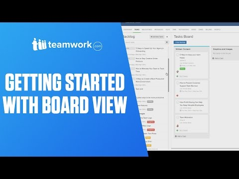 Teamwork Projects - Getting Started with Board View