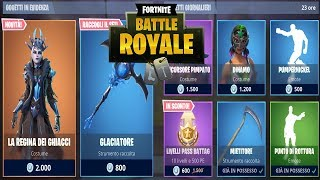 """SHOP"" 20/01 JANVIER NOUVEAU SKIN THE QUEEN OF ICE - GLACIATORE! QUOTIDIEN FORTNITE NEGOZIO"