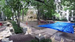 EAsT camPUS Rush 2014: Roller Coaster Construction Timelapse