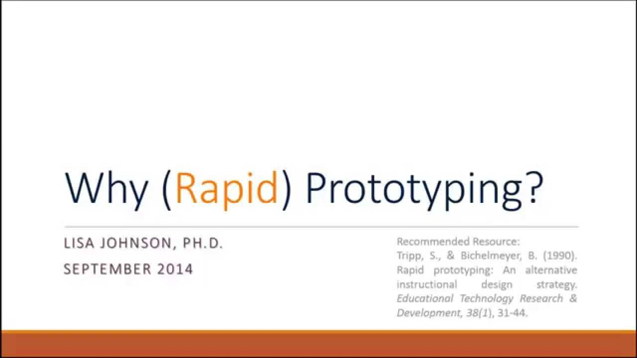 Why Rapid Prototyping Youtube