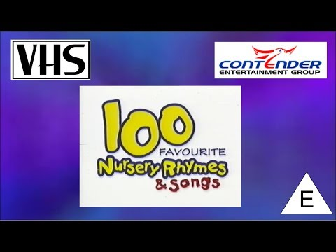 Opening to 100 Favourite Nursery Rhymes & Songs UK VHS (2002)