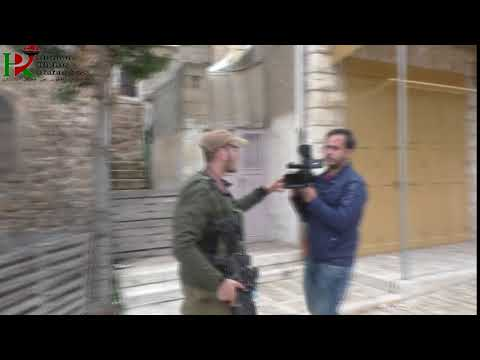 A Palestinian television cameraman was prevented from filming in Hebron