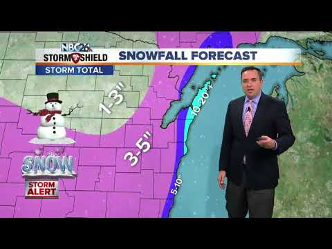 Snow showers expected today, W weather tomorrow