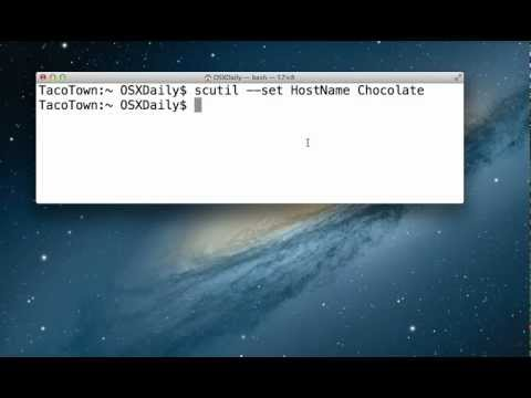 Change the Hostname in Mac OS X via Terminal Permanently