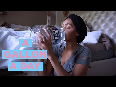 WHAT A GALLON OF WATER A DAY DID TO ME | drink with me VLOG