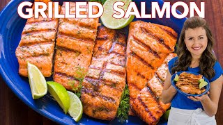 HOW TO GRILL SAĻMON with Garlic Lime Butter