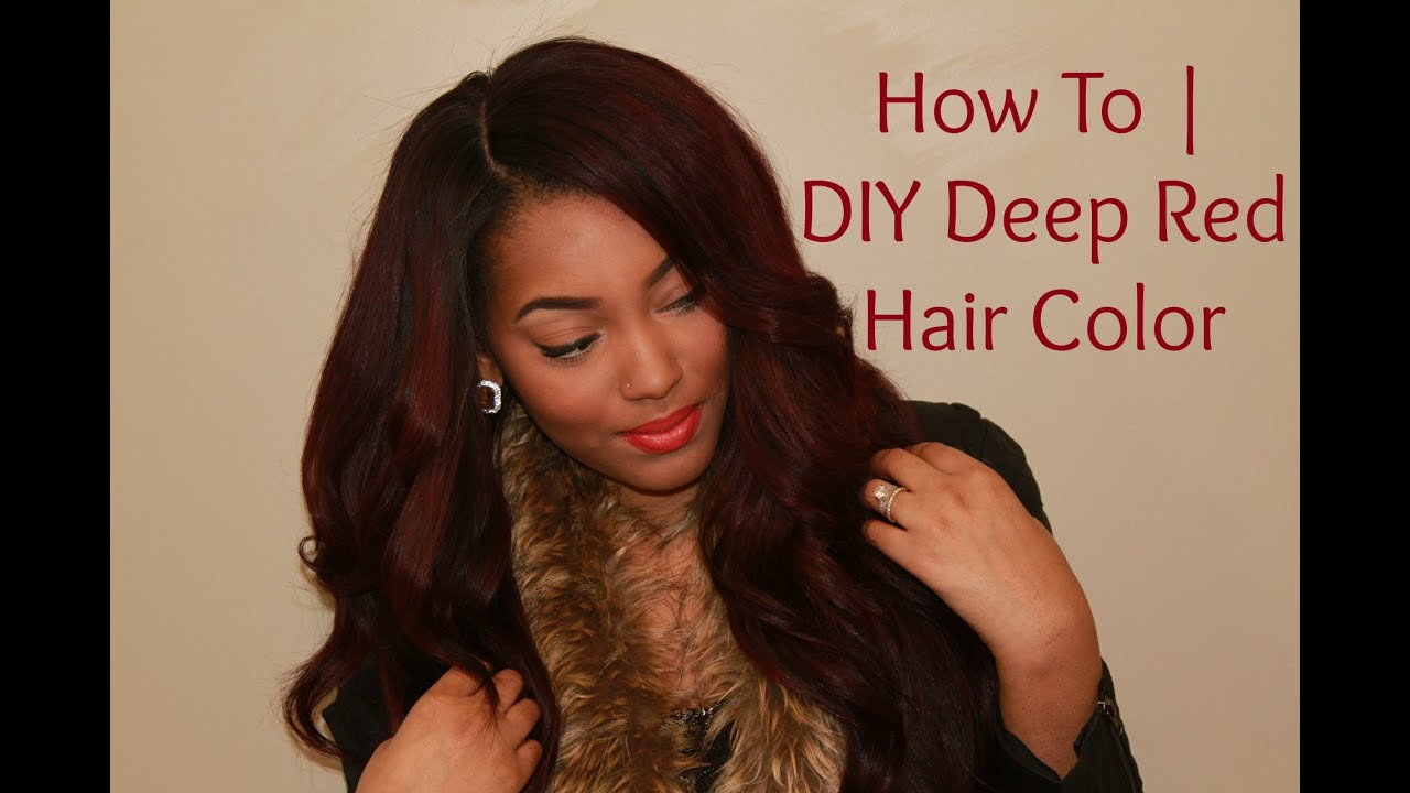 Are You RED-y? Tutorial   How I Achieved My Deep Red Hair