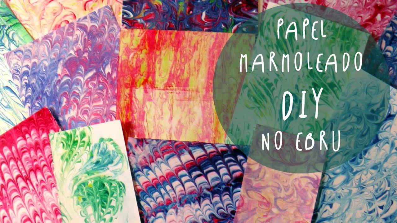 Manualidad para niños: PAPEL MARMOLEADO usando CREMA DE AFEITAR (NO ...
