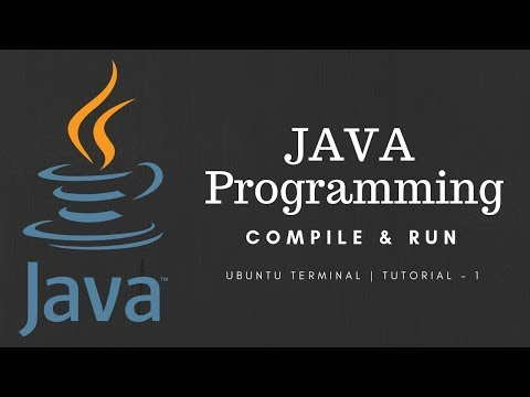 Java Programming Tutorial Using Terminal in Ubuntu