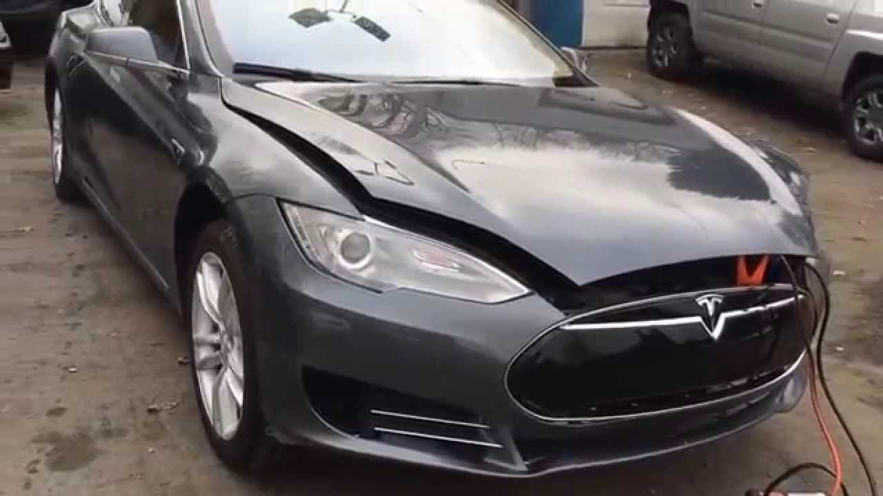 tesla model s 85 salvage cars from usa youtube. Black Bedroom Furniture Sets. Home Design Ideas