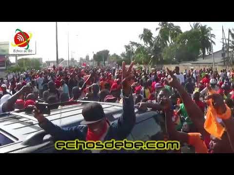 La camp de la Gendarmerie Nationale de Lomé a été également envahi par une foule immense.
