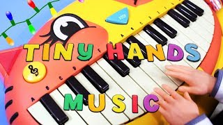 Tiny Hands Music - Rudolf the Red Nosed Reindeer on a Kitty Cat Keyboard