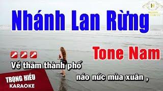 Karaoke Nhánh Lan Rừng Tone Nam Nhạc Sống | Trọng Hiếu