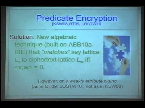 Predicate Encryption for Inner Products from LWE
