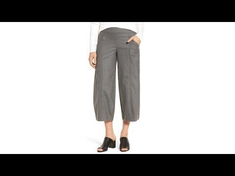 Crop Stretch Wool Ankle Pants