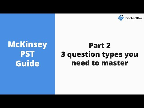 McKinsey PST - 3 question types to master