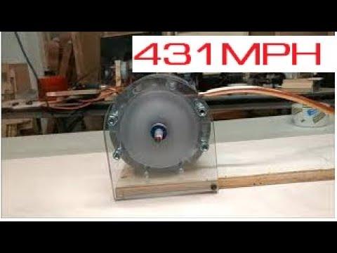 YouTube's Fastest Tesla Turbine! 431 MPH Periphery Speed!