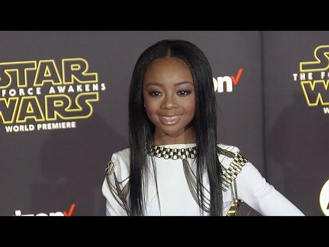 "Skai Jackson ""Star Wars The Force Awakens"" World Premiere"